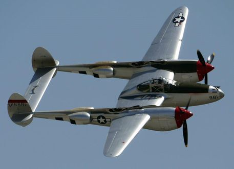 lockheed p 38l lightning flyby by shelbs2 d50pw46 small